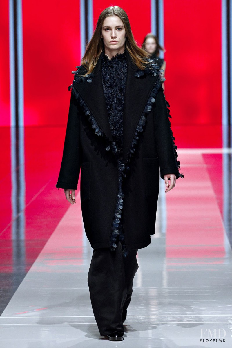 Nadja Bender featured in  the Christopher Kane fashion show for Autumn/Winter 2013