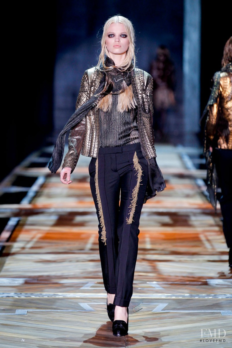 Daphne Groeneveld featured in  the Roberto Cavalli fashion show for Autumn/Winter 2011