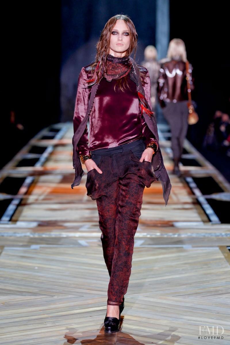 Karmen Pedaru featured in  the Roberto Cavalli fashion show for Autumn/Winter 2011