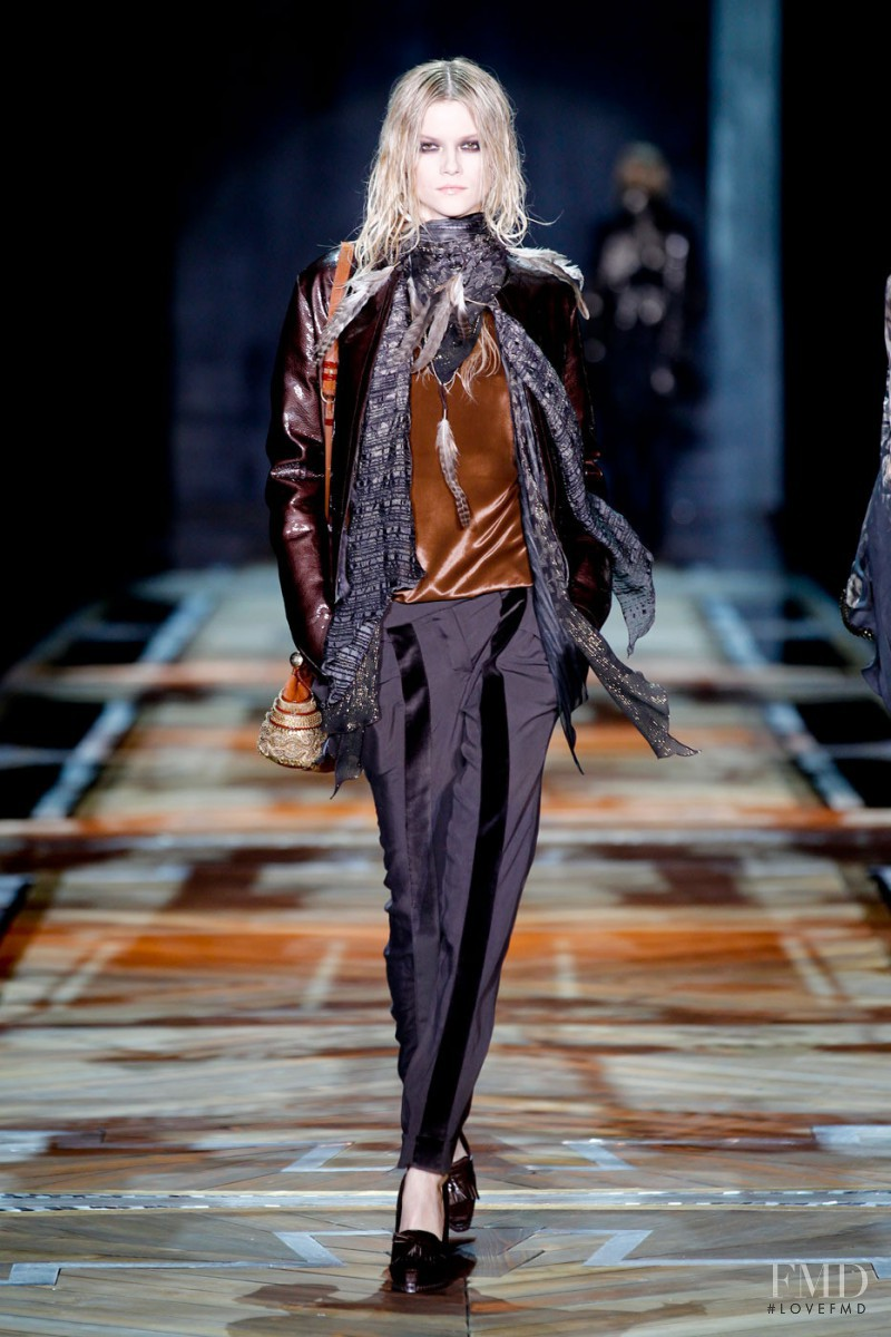 Kasia Struss featured in  the Roberto Cavalli fashion show for Autumn/Winter 2011