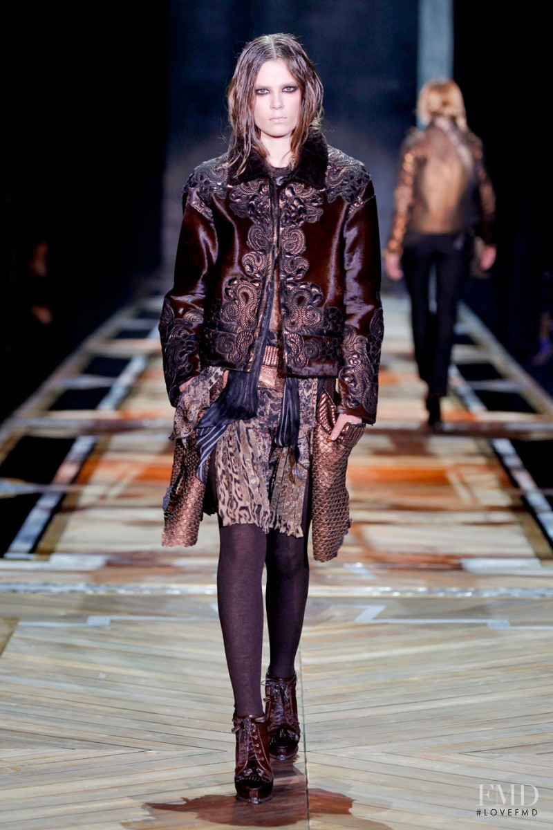 Caroline Brasch Nielsen featured in  the Roberto Cavalli fashion show for Autumn/Winter 2011