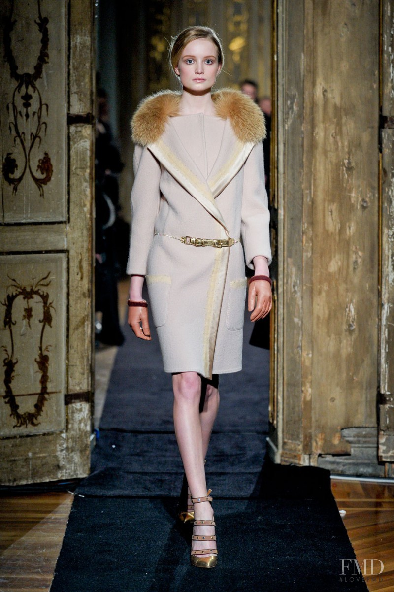 Maud Welzen featured in  the Aquilano.Rimondi fashion show for Autumn/Winter 2011
