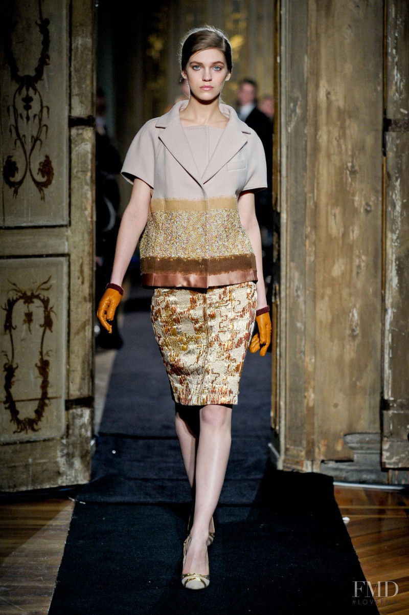 Samantha Gradoville featured in  the Aquilano.Rimondi fashion show for Autumn/Winter 2011