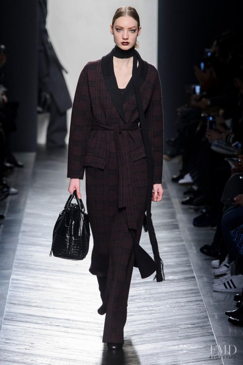 Susanne Knipper featured in  the Bottega Veneta fashion show for Autumn/Winter 2016