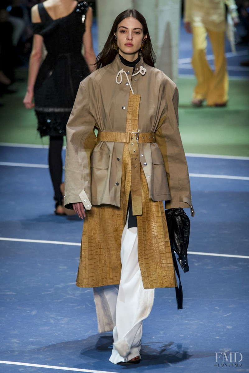 Camille Hurel featured in  the Celine fashion show for Autumn/Winter 2016