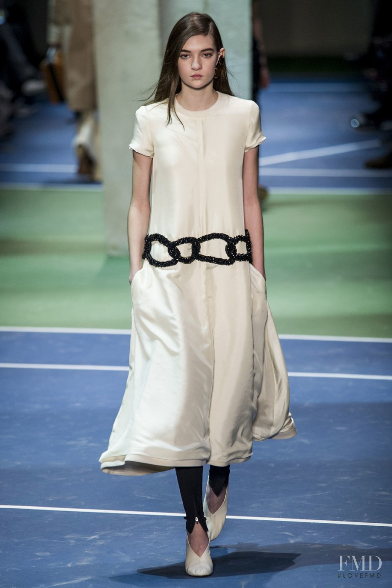 Yuliia Ratner featured in  the Celine fashion show for Autumn/Winter 2016