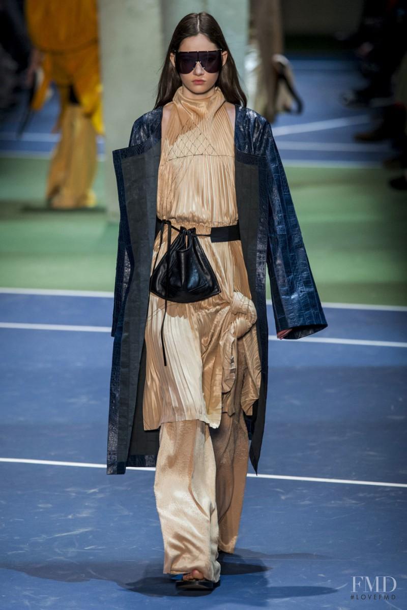 Vika Ihnatenko featured in  the Celine fashion show for Autumn/Winter 2016
