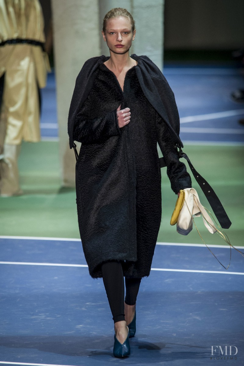 Frederikke Sofie Falbe-Hansen featured in  the Celine fashion show for Autumn/Winter 2016