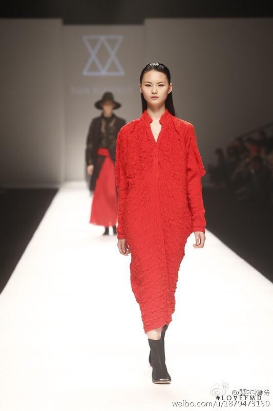 Cong He featured in  the Ban Xiao Xue fashion show for Autumn/Winter 2014