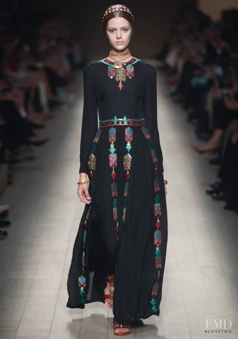 Esther Heesch featured in  the Valentino fashion show for Spring/Summer 2014