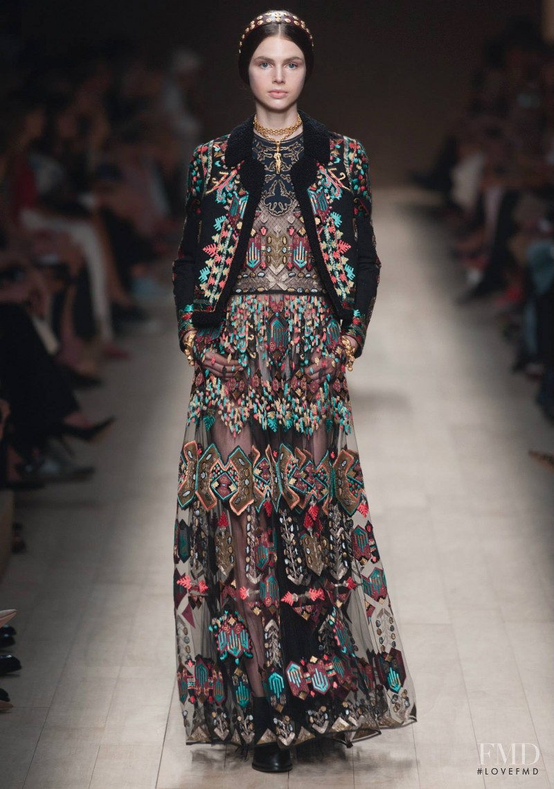 Irma Spies featured in  the Valentino fashion show for Spring/Summer 2014