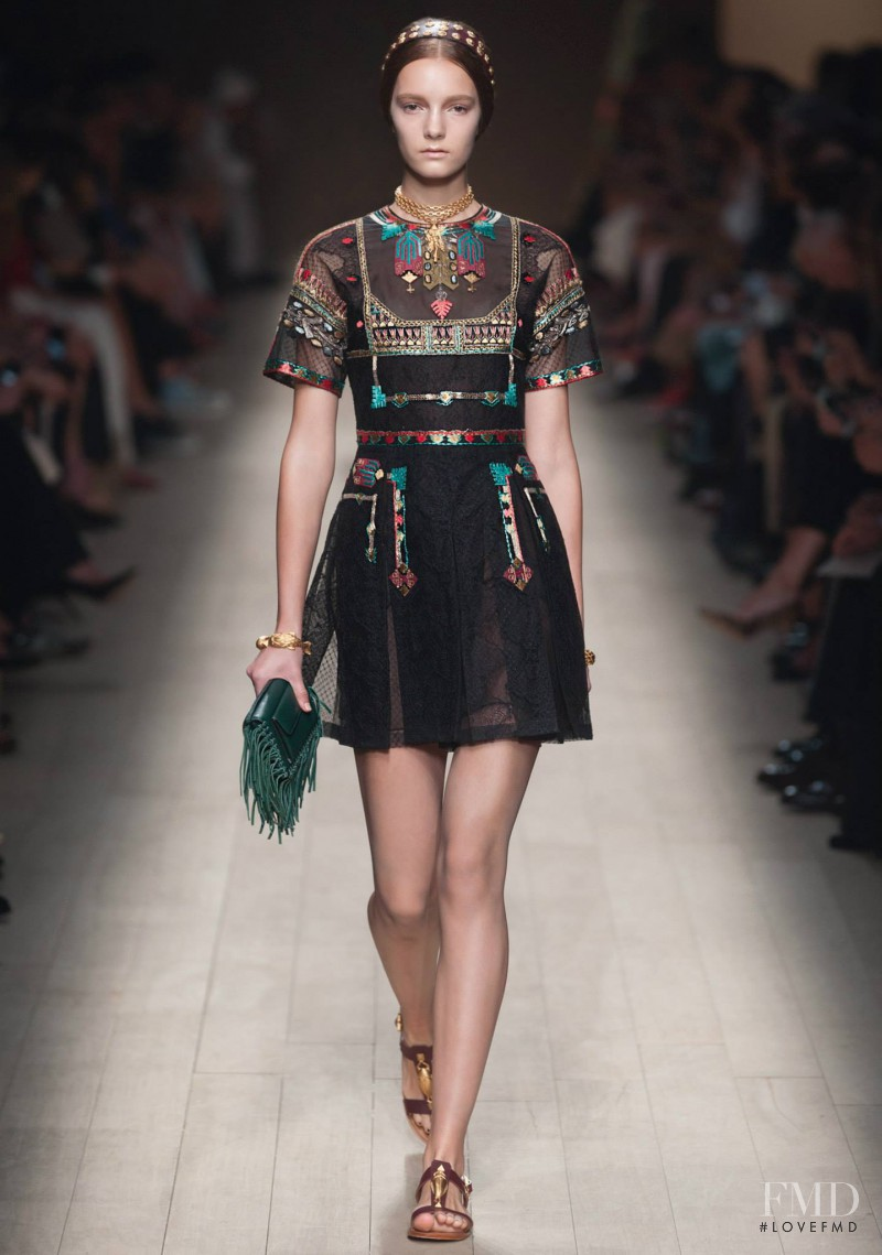 Irina Liss featured in  the Valentino fashion show for Spring/Summer 2014