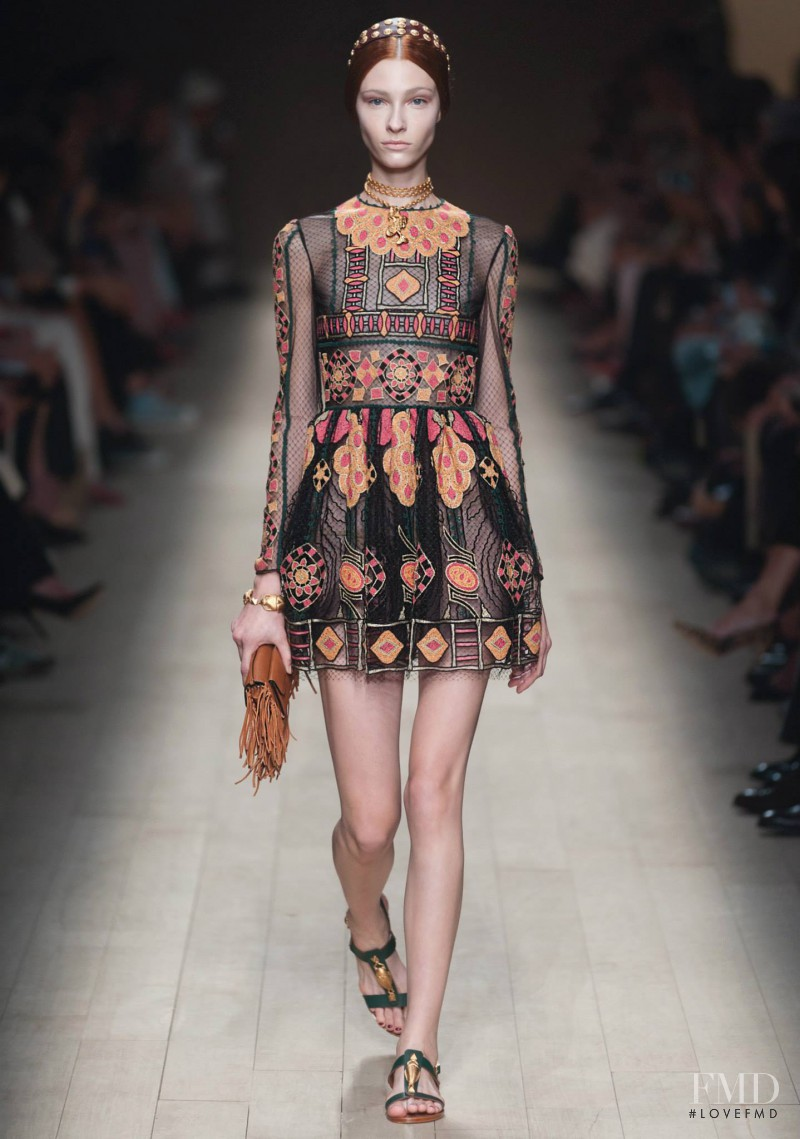 Lera Tribel featured in  the Valentino fashion show for Spring/Summer 2014