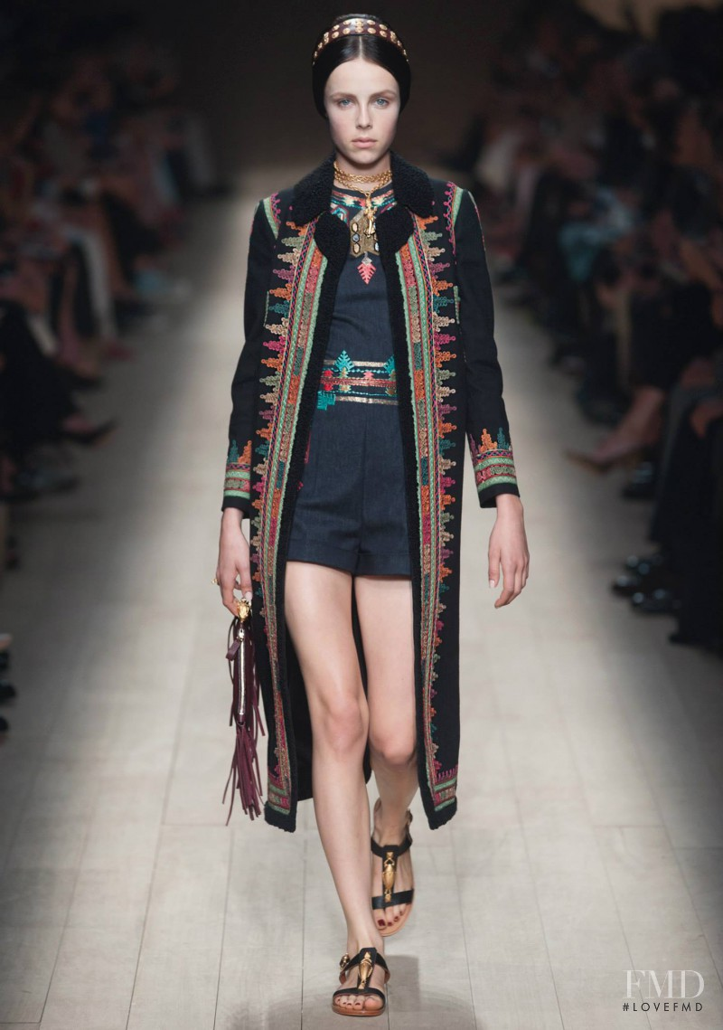 Edie Campbell featured in  the Valentino fashion show for Spring/Summer 2014