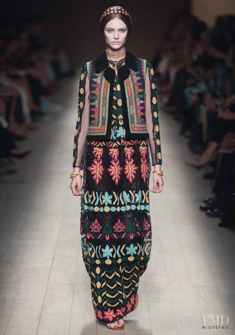 Auguste Abeliunaite featured in  the Valentino fashion show for Spring/Summer 2014