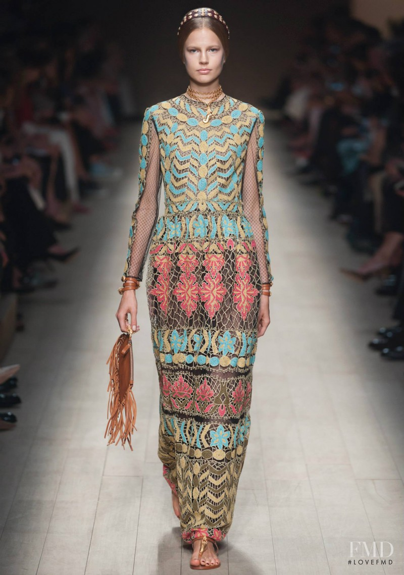 Elisabeth Erm featured in  the Valentino fashion show for Spring/Summer 2014
