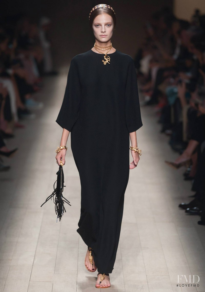 Ine Neefs featured in  the Valentino fashion show for Spring/Summer 2014