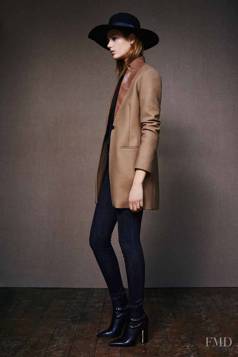 Esther Heesch featured in  the AllSaints lookbook for Pre-Spring 2015