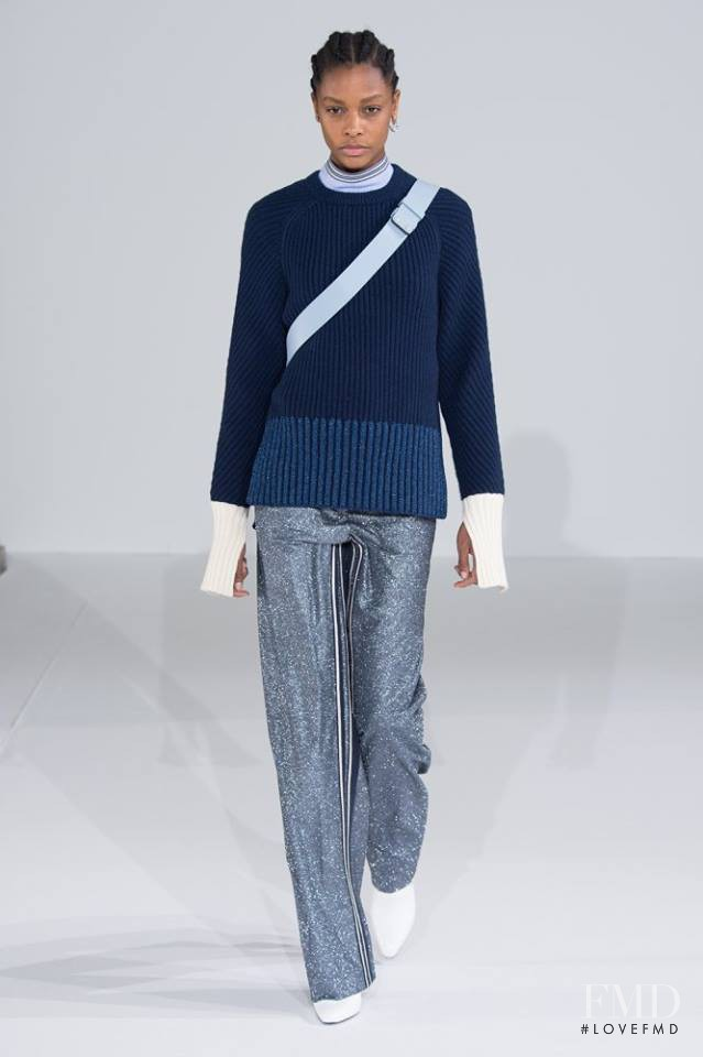 Karly Loyce featured in  the Cedric Charlier fashion show for Autumn/Winter 2016