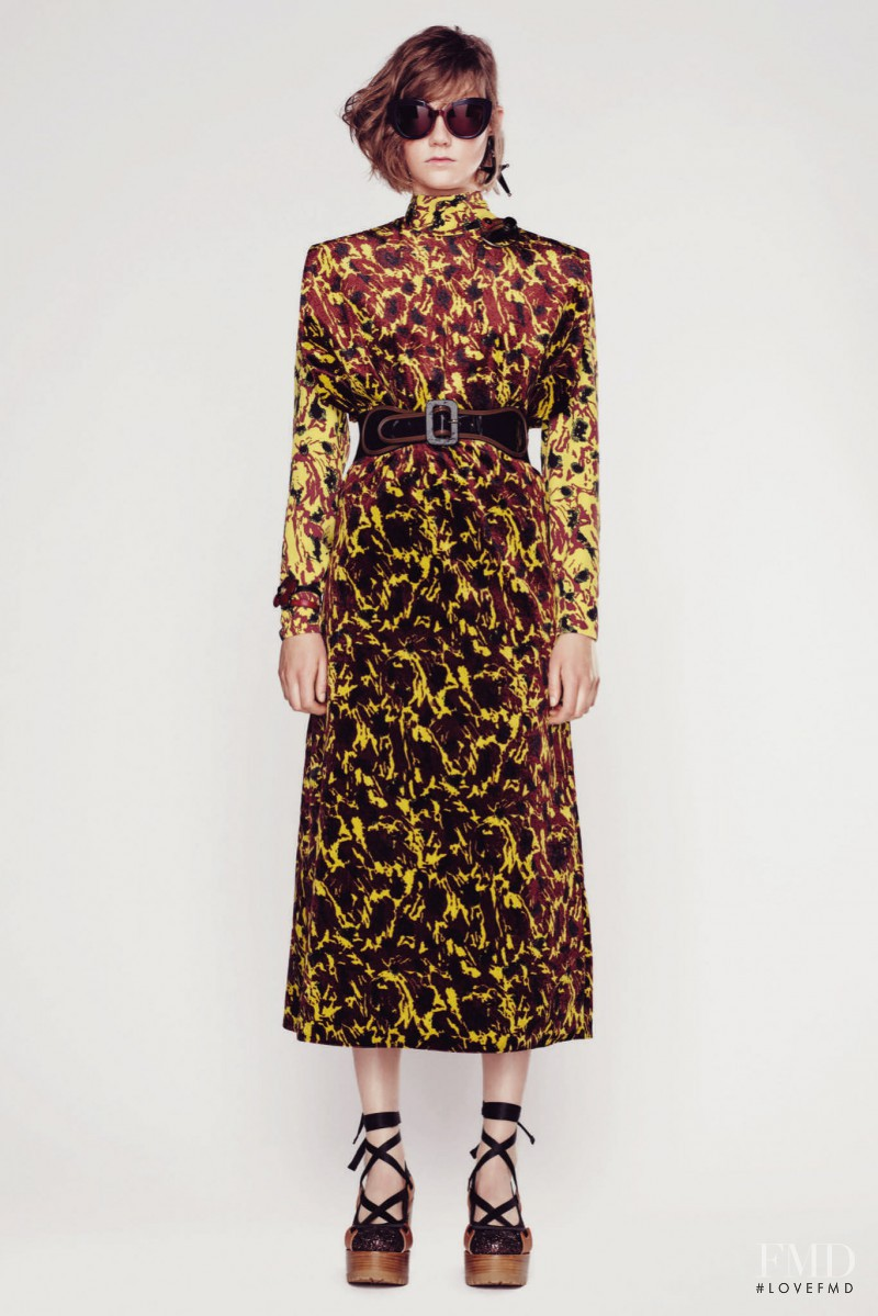 Marland Backus featured in  the Marni fashion show for Resort 2016
