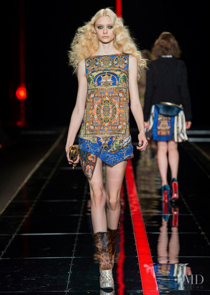 Nastya Kusakina featured in  the Just Cavalli fashion show for Autumn/Winter 2013