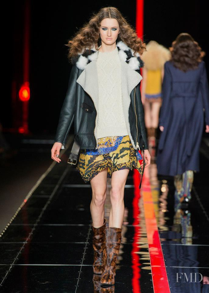 Mackenzie Drazan featured in  the Just Cavalli fashion show for Autumn/Winter 2013