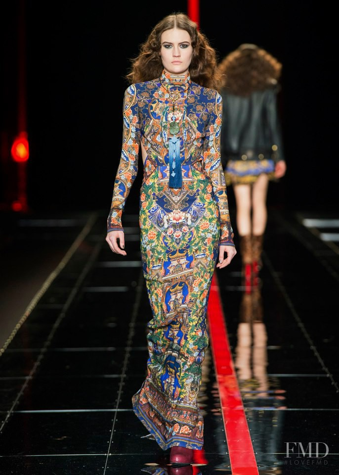 Maria Bradley featured in  the Just Cavalli fashion show for Autumn/Winter 2013