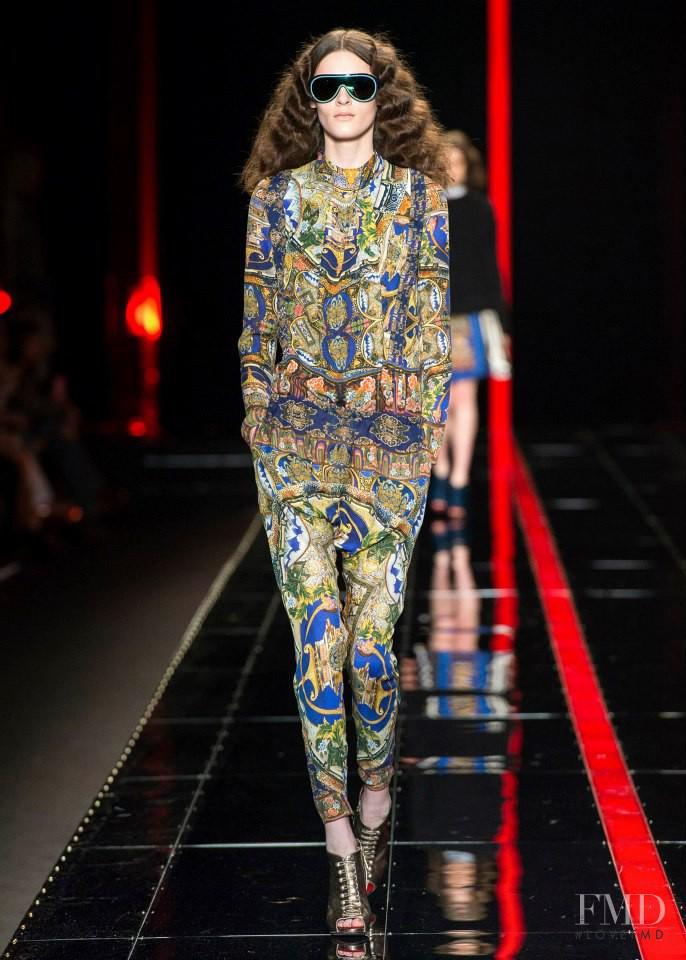 Kremi Otashliyska featured in  the Just Cavalli fashion show for Autumn/Winter 2013
