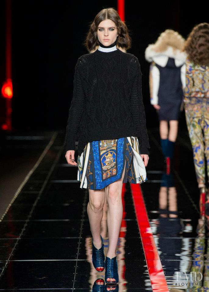 Kel Markey featured in  the Just Cavalli fashion show for Autumn/Winter 2013