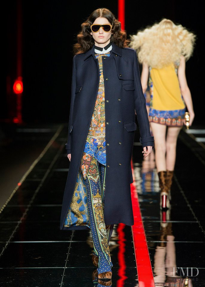 Katlin Aas featured in  the Just Cavalli fashion show for Autumn/Winter 2013