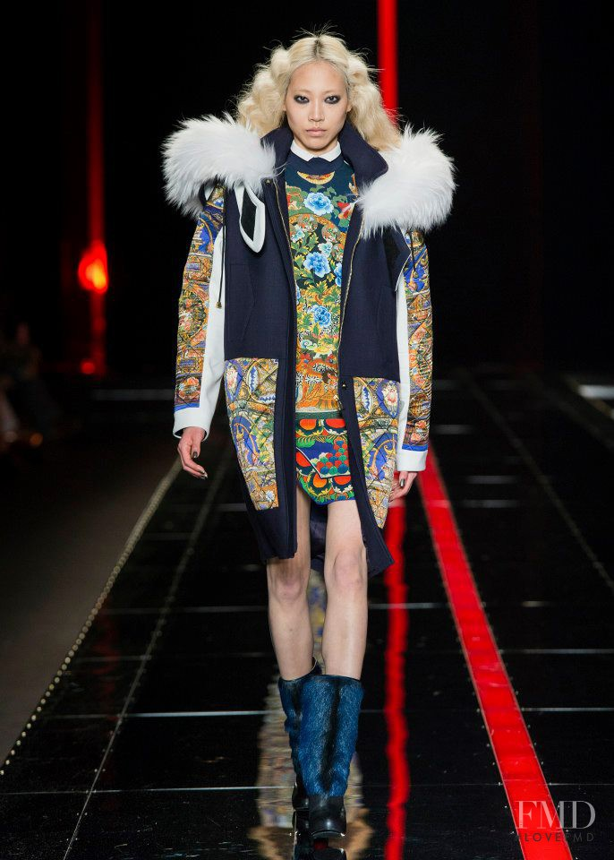 Soo Joo Park featured in  the Just Cavalli fashion show for Autumn/Winter 2013