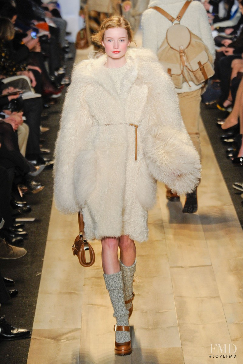 Maud Welzen featured in  the Michael Kors fashion show for Autumn/Winter 2012