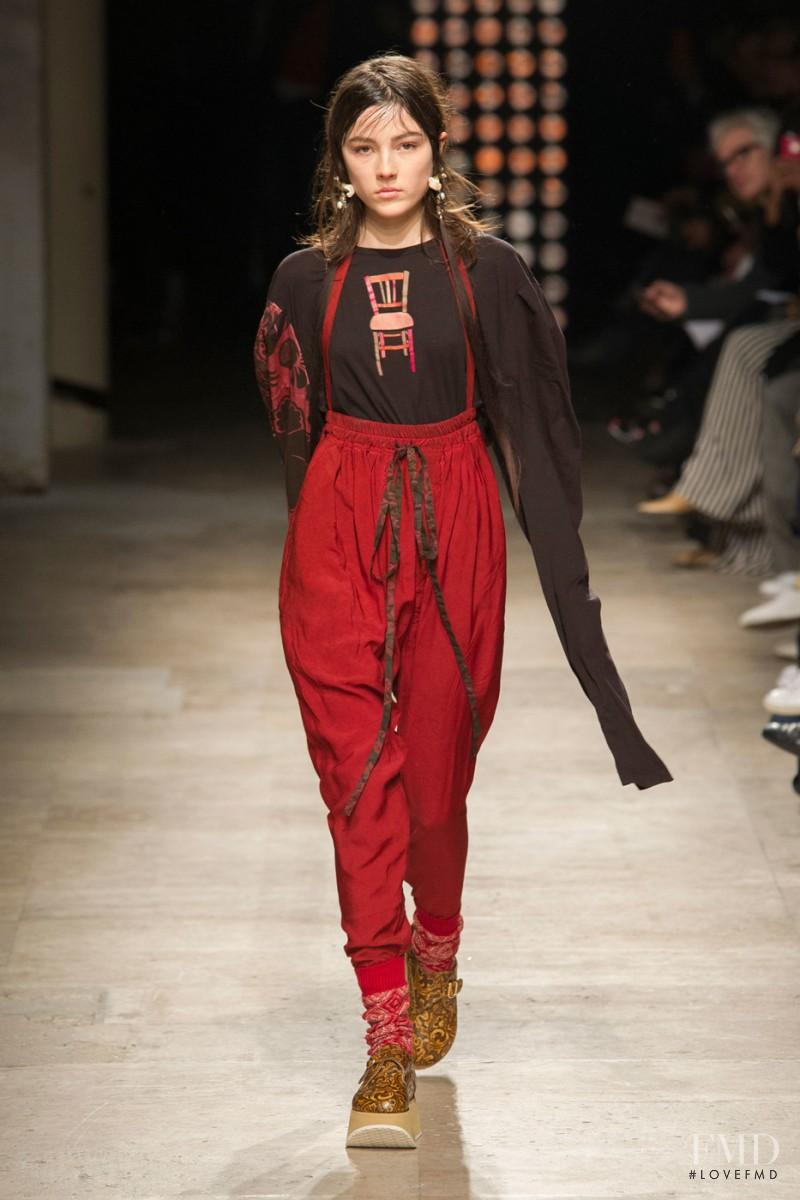 Lary Müller featured in  the Vivienne Westwood Gold Label by Andreas Kronthaler fashion show for Autumn/Winter 2016