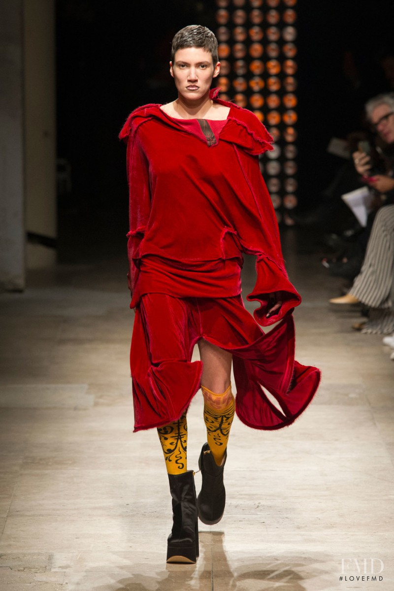 Tamy Glauser featured in  the Vivienne Westwood Gold Label by Andreas Kronthaler fashion show for Autumn/Winter 2016