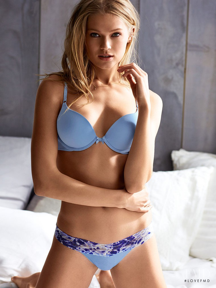 Vita Sidorkina featured in  the Victoria\'s Secret Lingerie catalogue for Spring/Summer 2015
