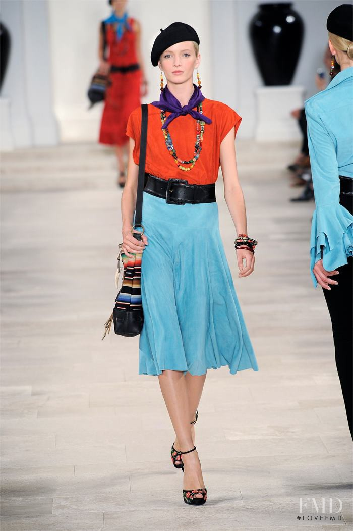 Daria Strokous featured in  the Ralph Lauren Collection fashion show for Spring/Summer 2013