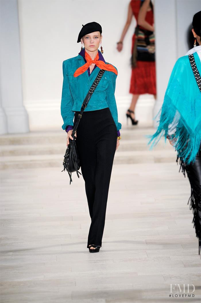 Mila Krasnoiarova featured in  the Ralph Lauren Collection fashion show for Spring/Summer 2013