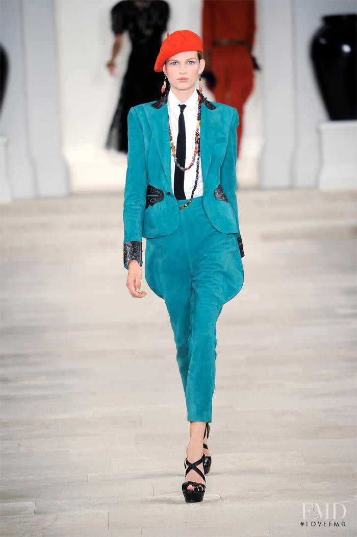 Bette Franke featured in  the Ralph Lauren Collection fashion show for Spring/Summer 2013