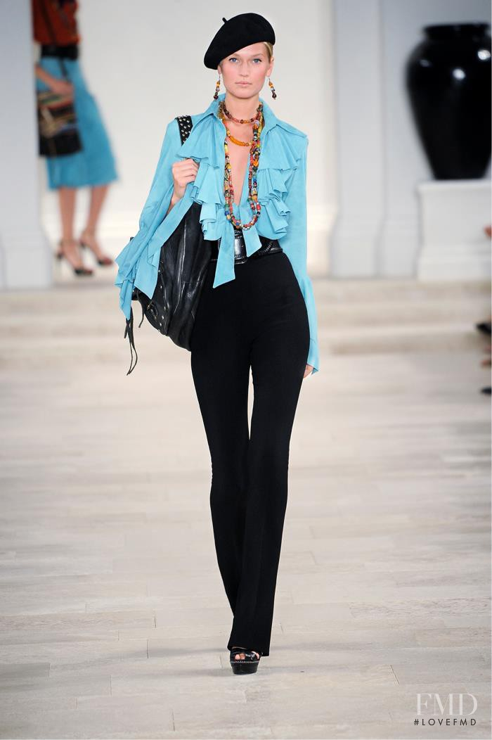 Toni Garrn featured in  the Ralph Lauren Collection fashion show for Spring/Summer 2013