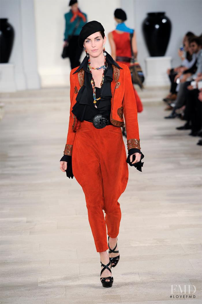 Hilary Rhoda featured in  the Ralph Lauren Collection fashion show for Spring/Summer 2013