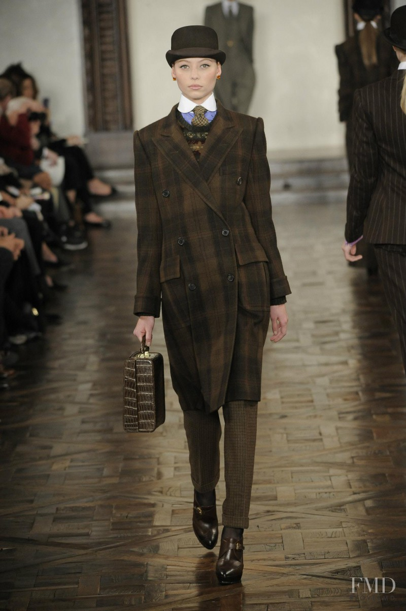 Vika Falileeva featured in  the Ralph Lauren Collection fashion show for Autumn/Winter 2012