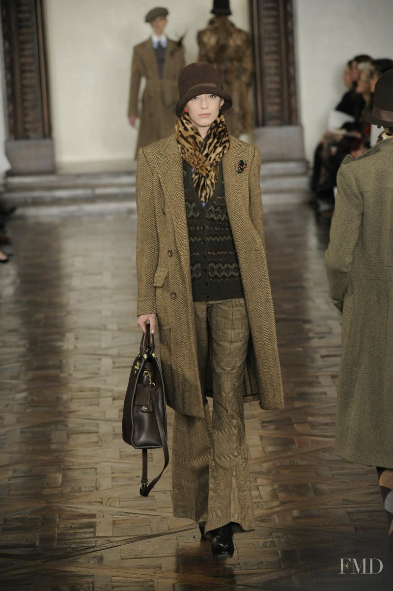 Yulia Kharlapanova featured in  the Ralph Lauren Collection fashion show for Autumn/Winter 2012