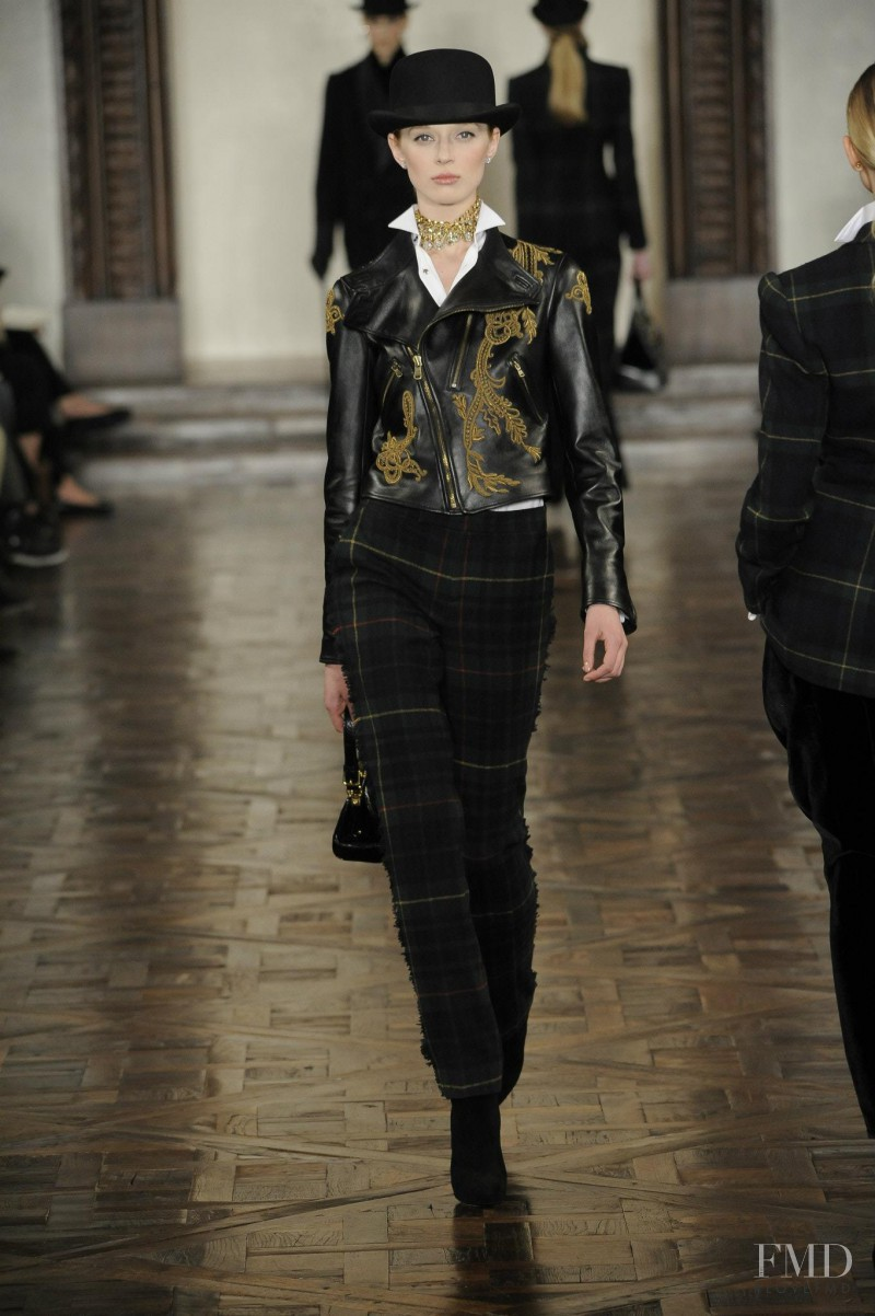 Olga Sherer featured in  the Ralph Lauren Collection fashion show for Autumn/Winter 2012