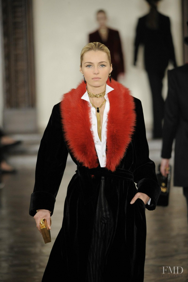Valentina Zeliaeva featured in  the Ralph Lauren Collection fashion show for Autumn/Winter 2012