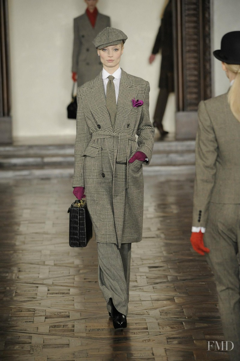 Melissa Tammerijn featured in  the Ralph Lauren Collection fashion show for Autumn/Winter 2012