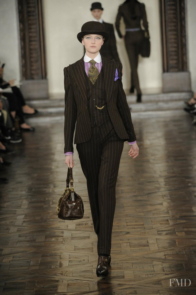 Vlada Roslyakova featured in  the Ralph Lauren Collection fashion show for Autumn/Winter 2012