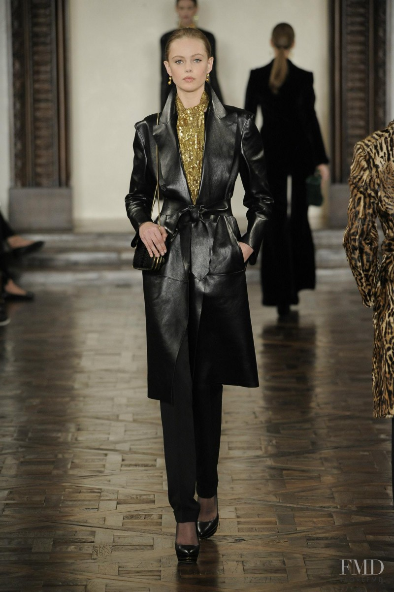 Frida Gustavsson featured in  the Ralph Lauren Collection fashion show for Autumn/Winter 2012