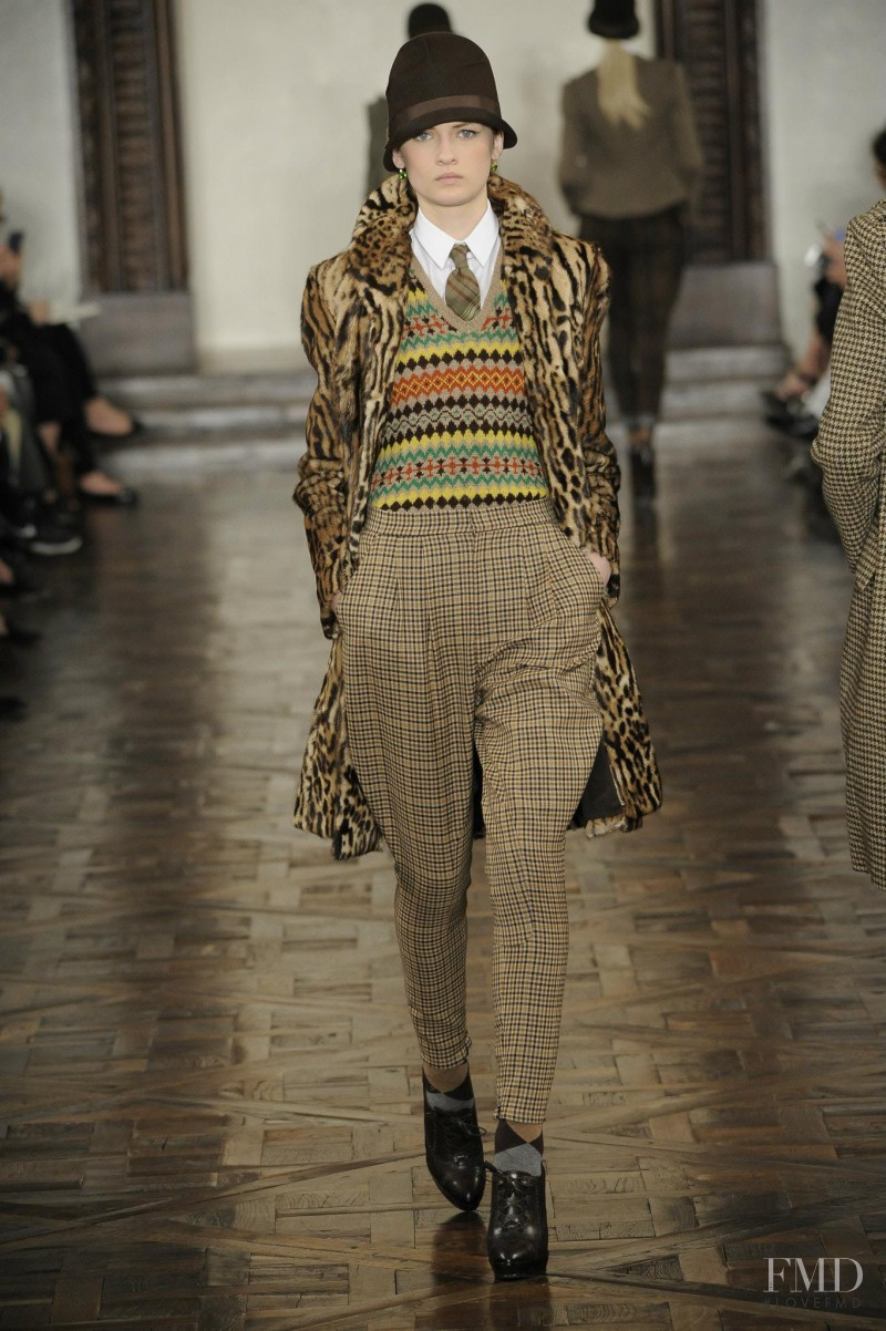 Lara Mullen featured in  the Ralph Lauren Collection fashion show for Autumn/Winter 2012