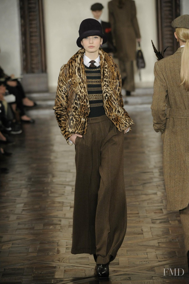 Kristina Romanova featured in  the Ralph Lauren Collection fashion show for Autumn/Winter 2012
