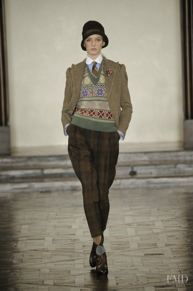 Daria Strokous featured in  the Ralph Lauren Collection fashion show for Autumn/Winter 2012